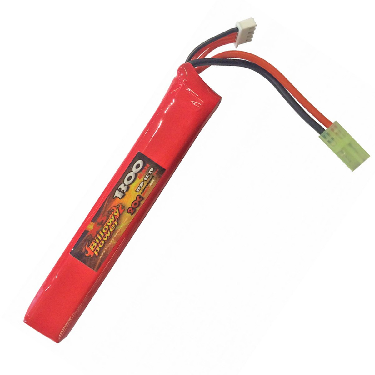 Batteria Lipo 11.1V Billowy Power 1300 mAh Ricaricabile 20C Softair