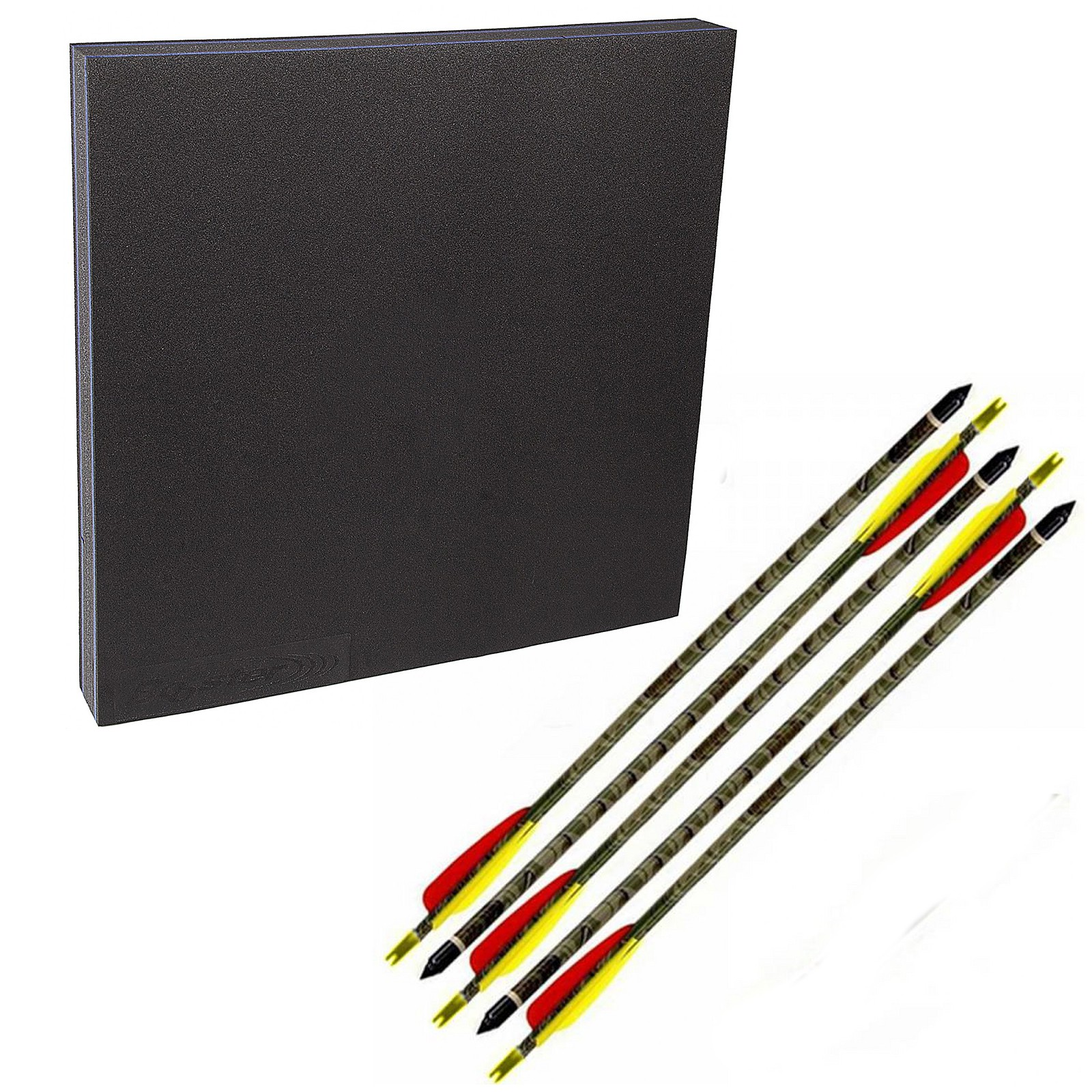 Kit composto da Battifreccia Booster sintetico 5 Frecce 30/65 libbre carbonio