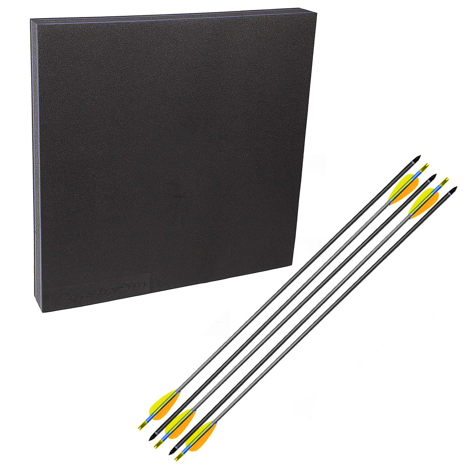 Kit con battifreccia materiale sintetico quadro 5 frecce carbonio 21 grammi