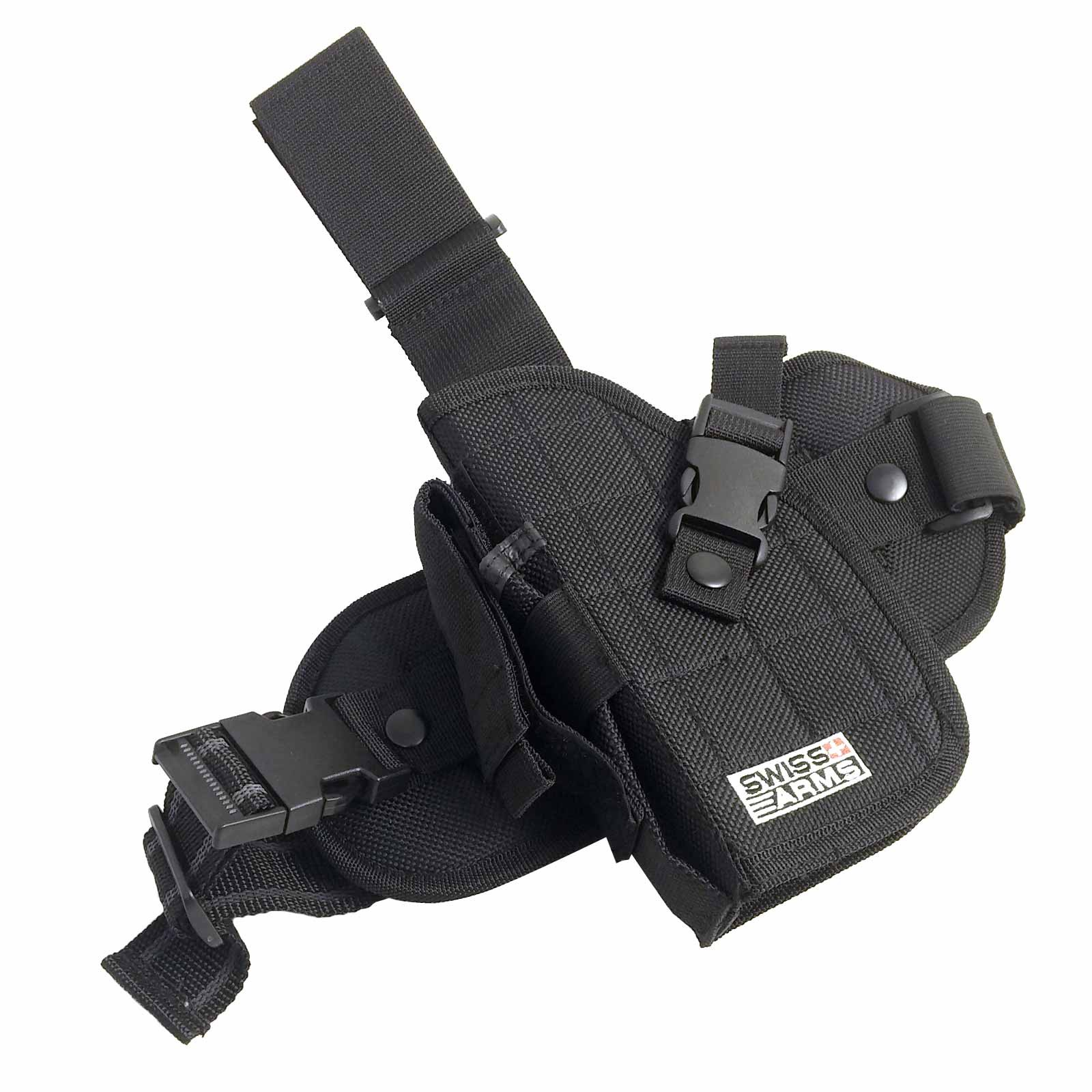 Fondina Cosciale in Cordura Universale Swiss Arms Porta Caricatore Nero