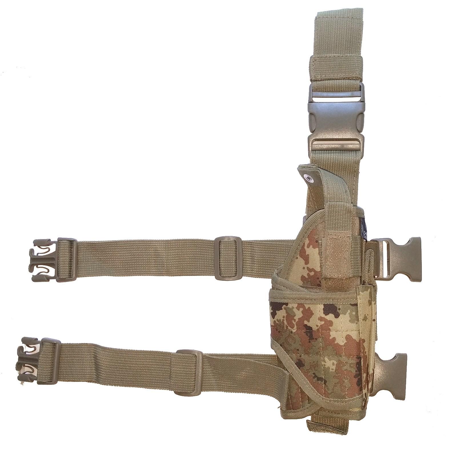 Fondina Cosciale Militare per Pistola Exagon Softair Tactical Vegetata