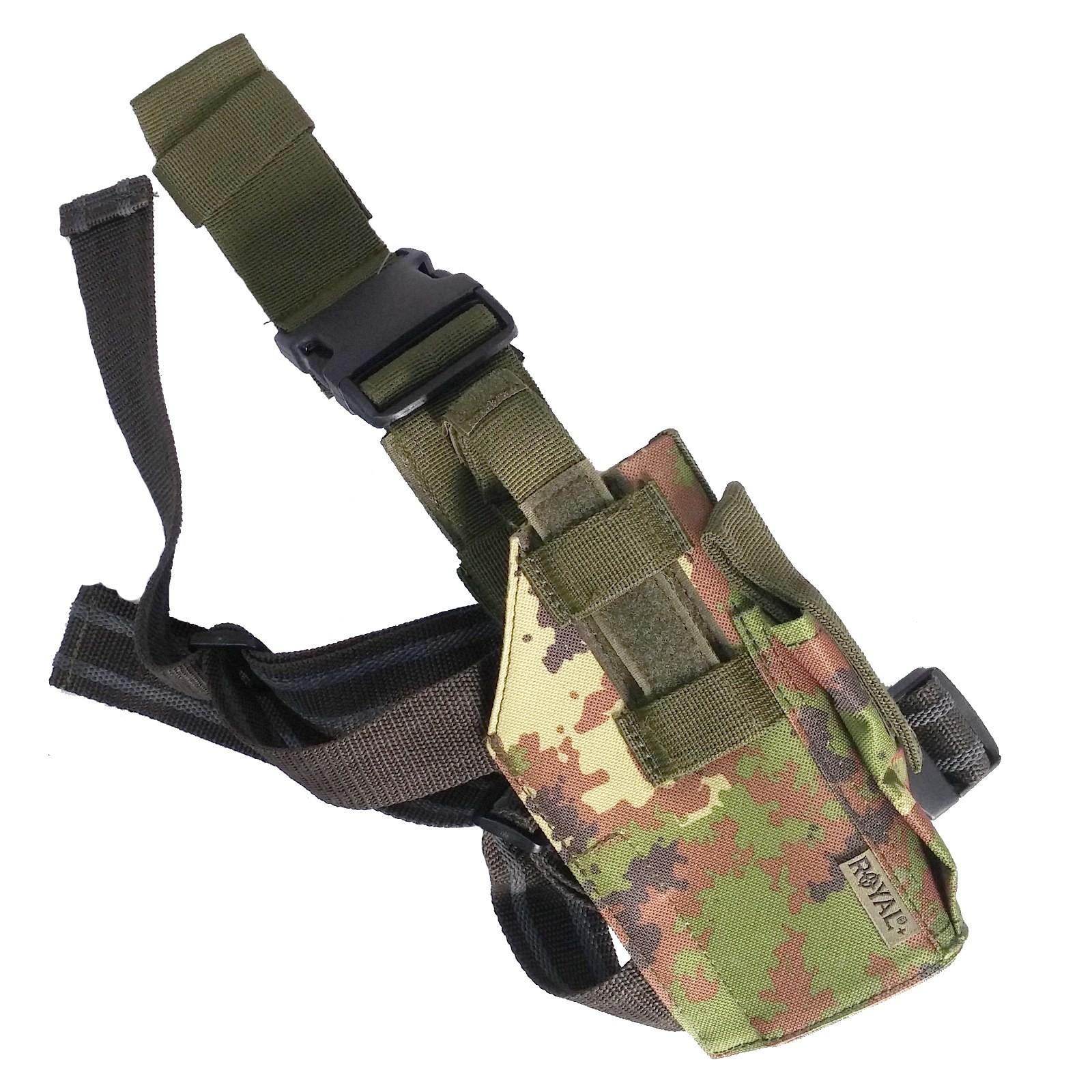Fondina Cosciale in Cordura Vegetata Militare Pistola Universale Desert Eagle