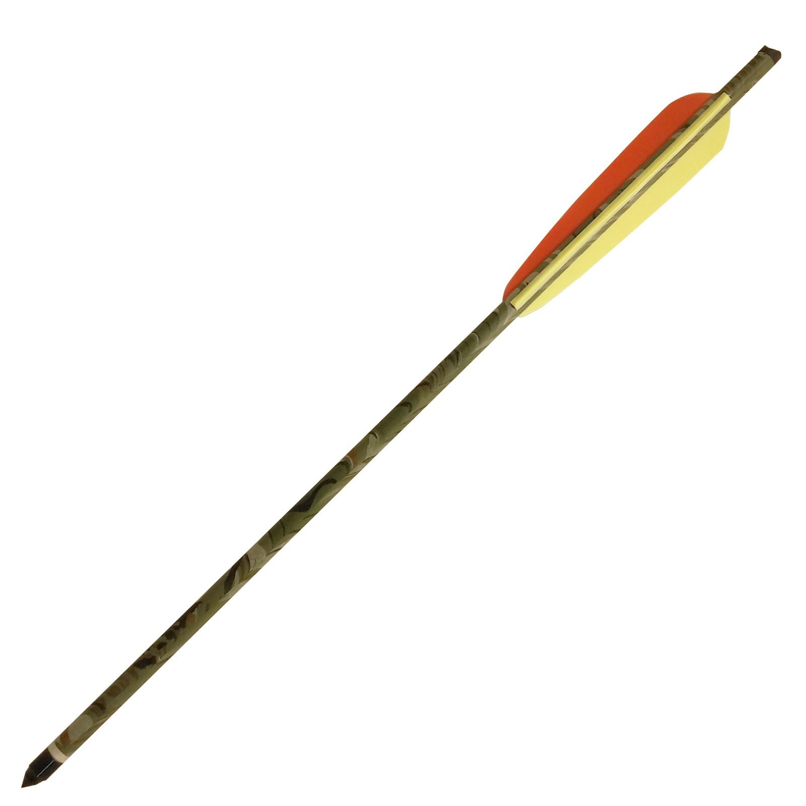 Freccia 16 Pollici per Balestra Dardo in Alluminio 9mm Mimetica