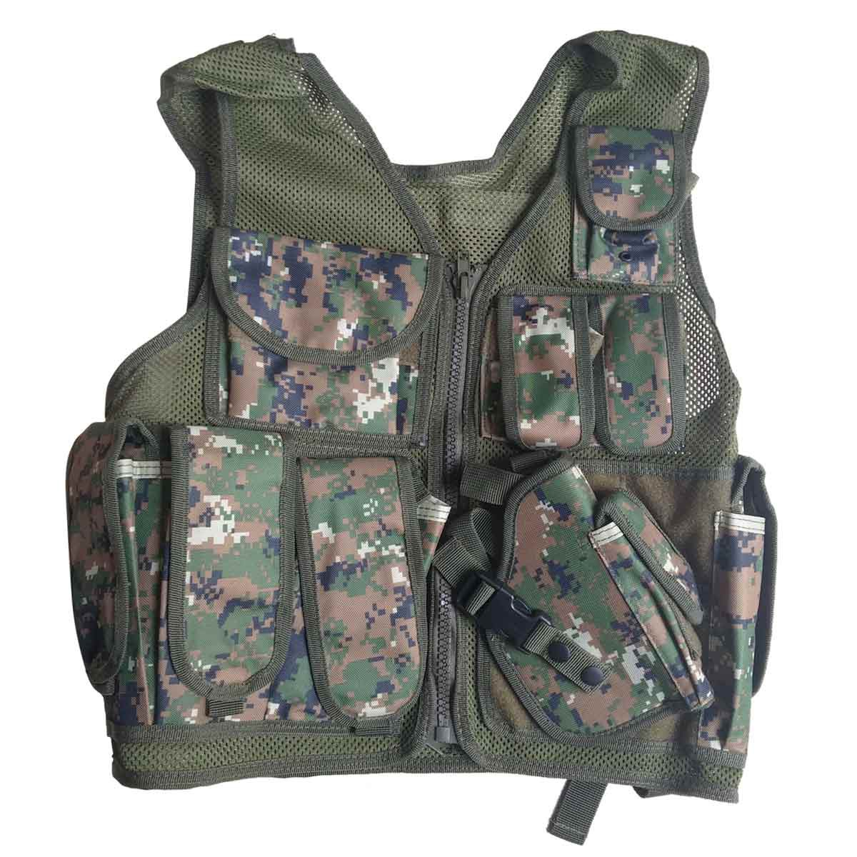 Gilet Tattico Softair Giubbotto Militare Marpat Digital Woodland