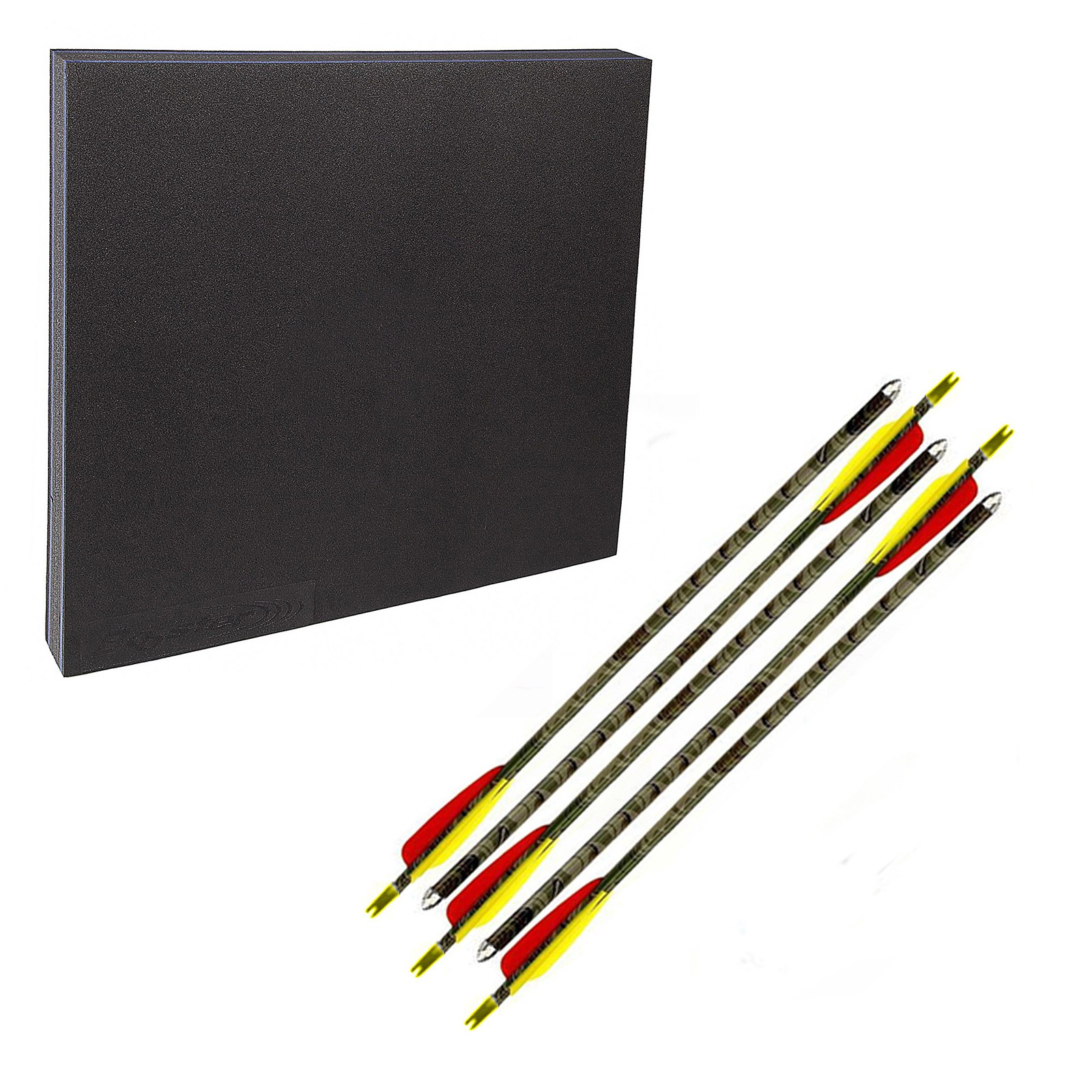 Kit Battifreccia gomma schiuma sintetico 5 Frecce alluminio punta acciaio
