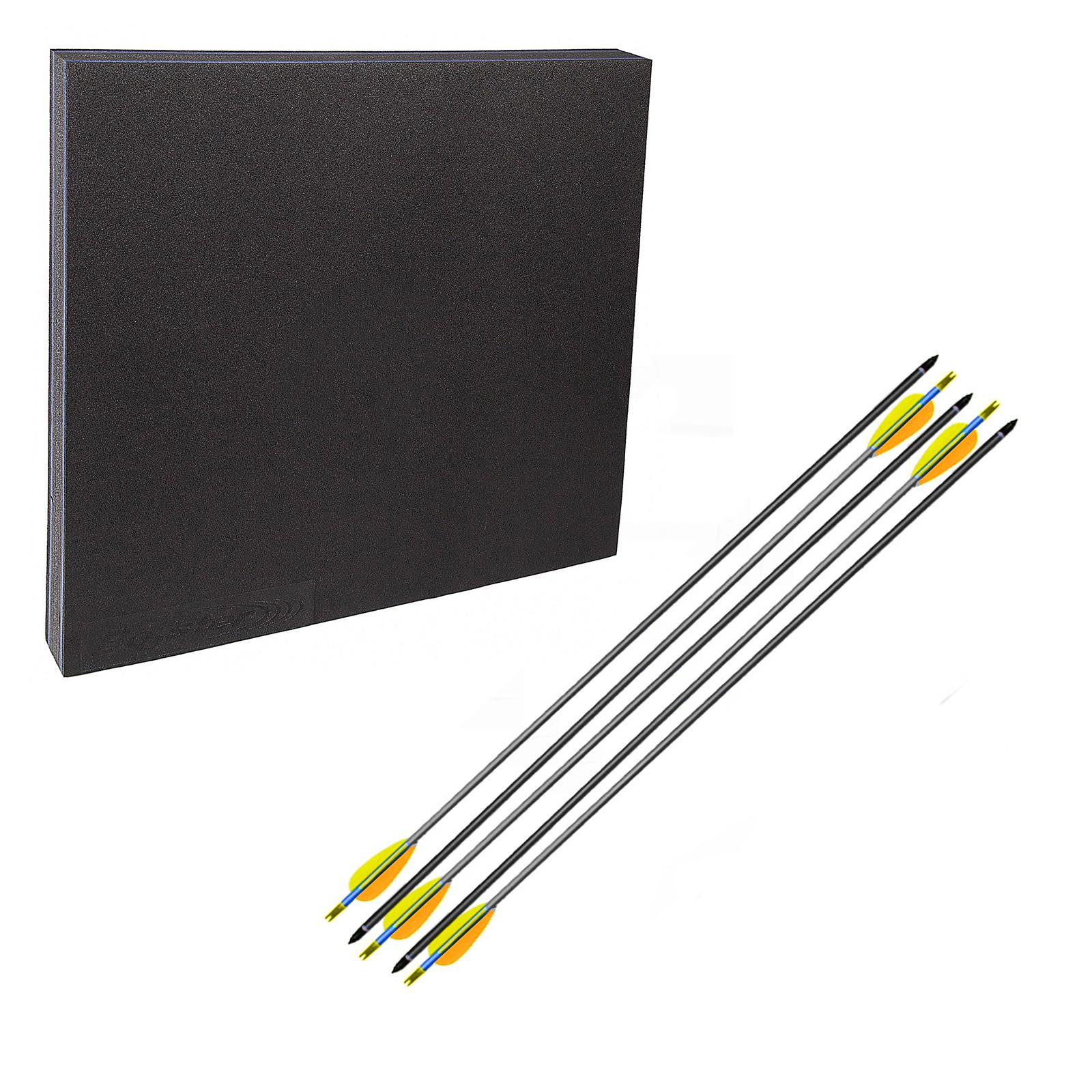 """Kit Battifreccia Booster 80x80cm 6 kg 5 Frecce carbonio grigie 30"""" 21 grammi"""