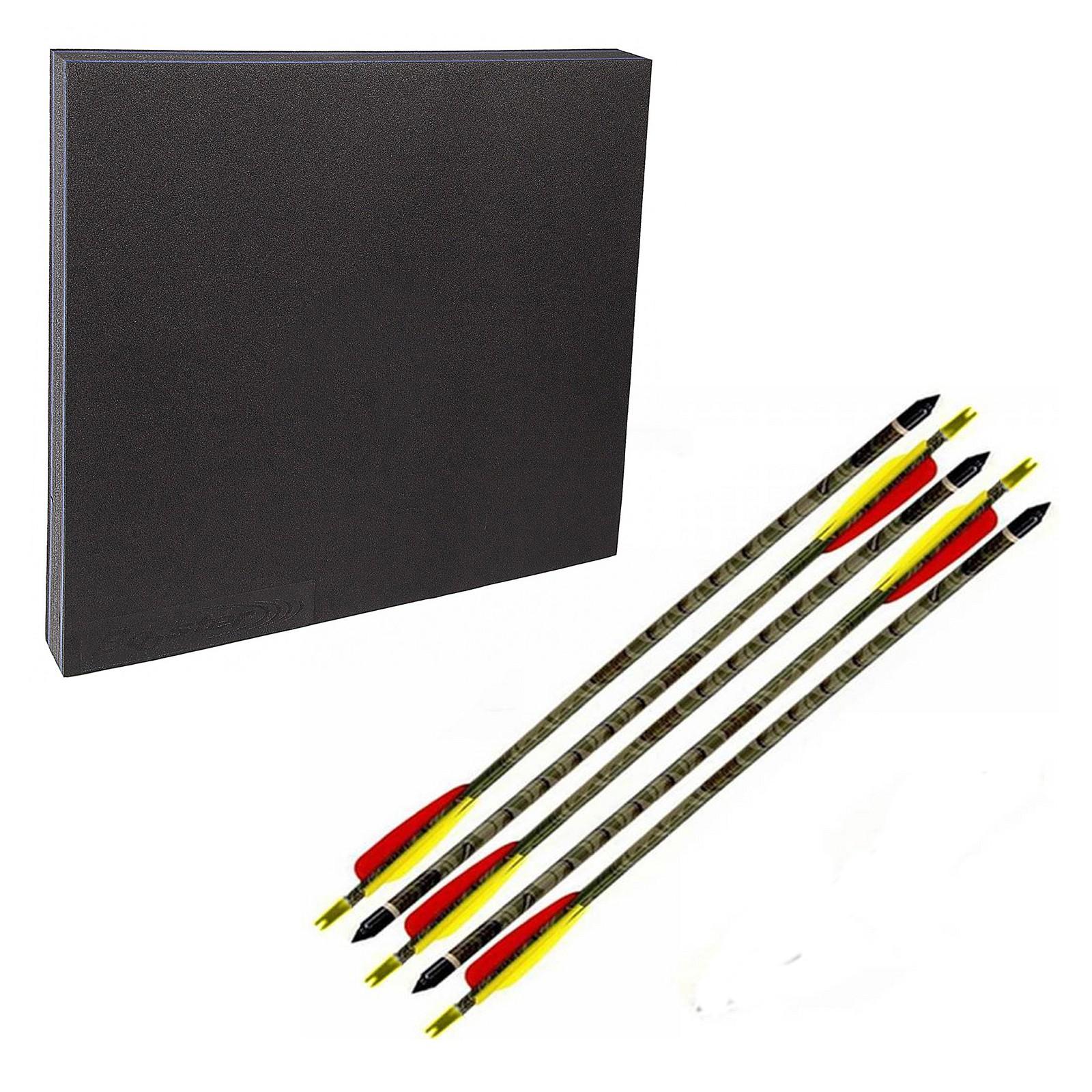 """Kit Battifreccia Bersaglio Booster Sintetico 5 Frecce carbonio mimetiche 30"""""""