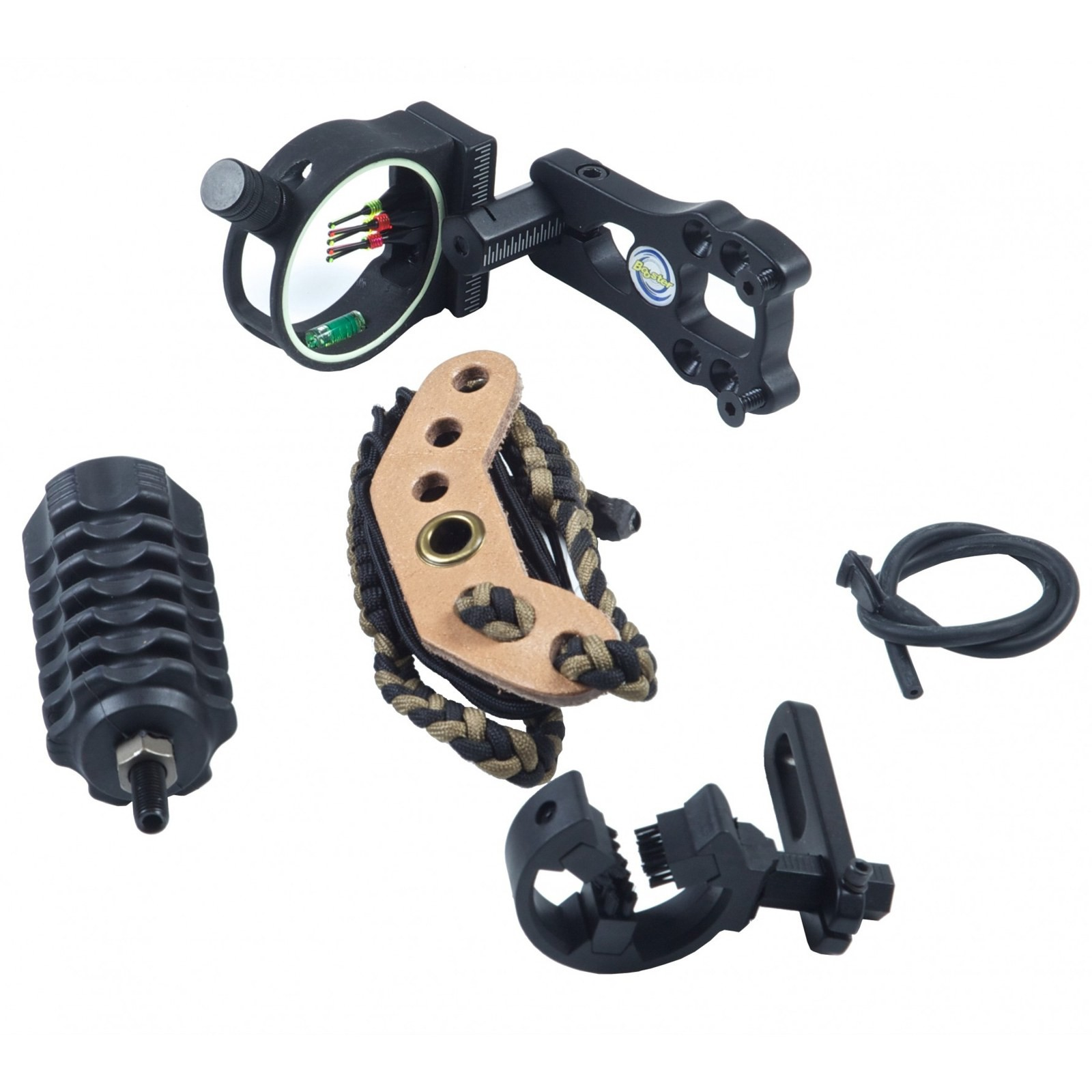 Kit Accessori Compound Caccia Stabilizzatore Mirino Dragona Rest Visette