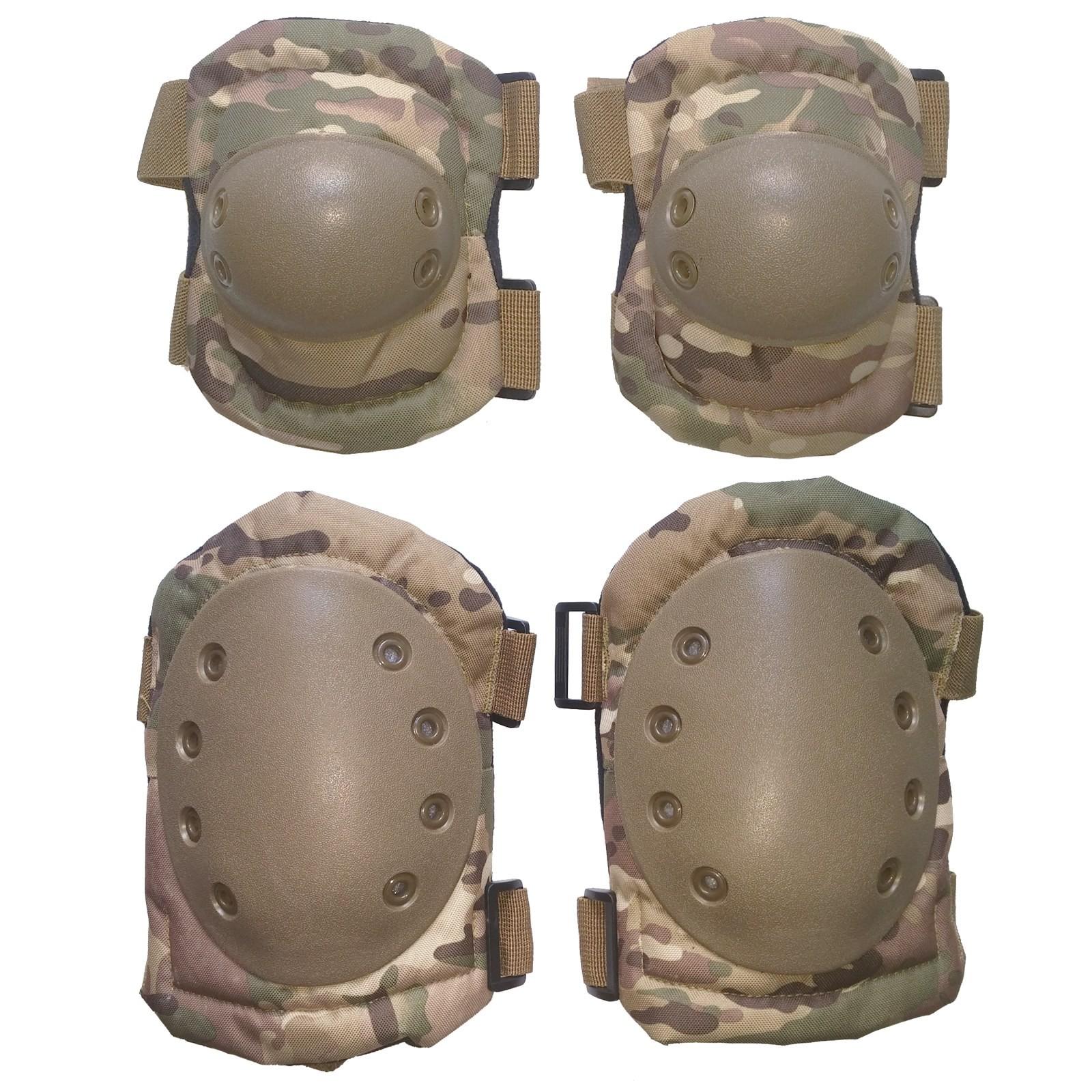 Kit Ginocchiere Gomitiere Protezione Rigide Softair Protezioni Sport Multicam