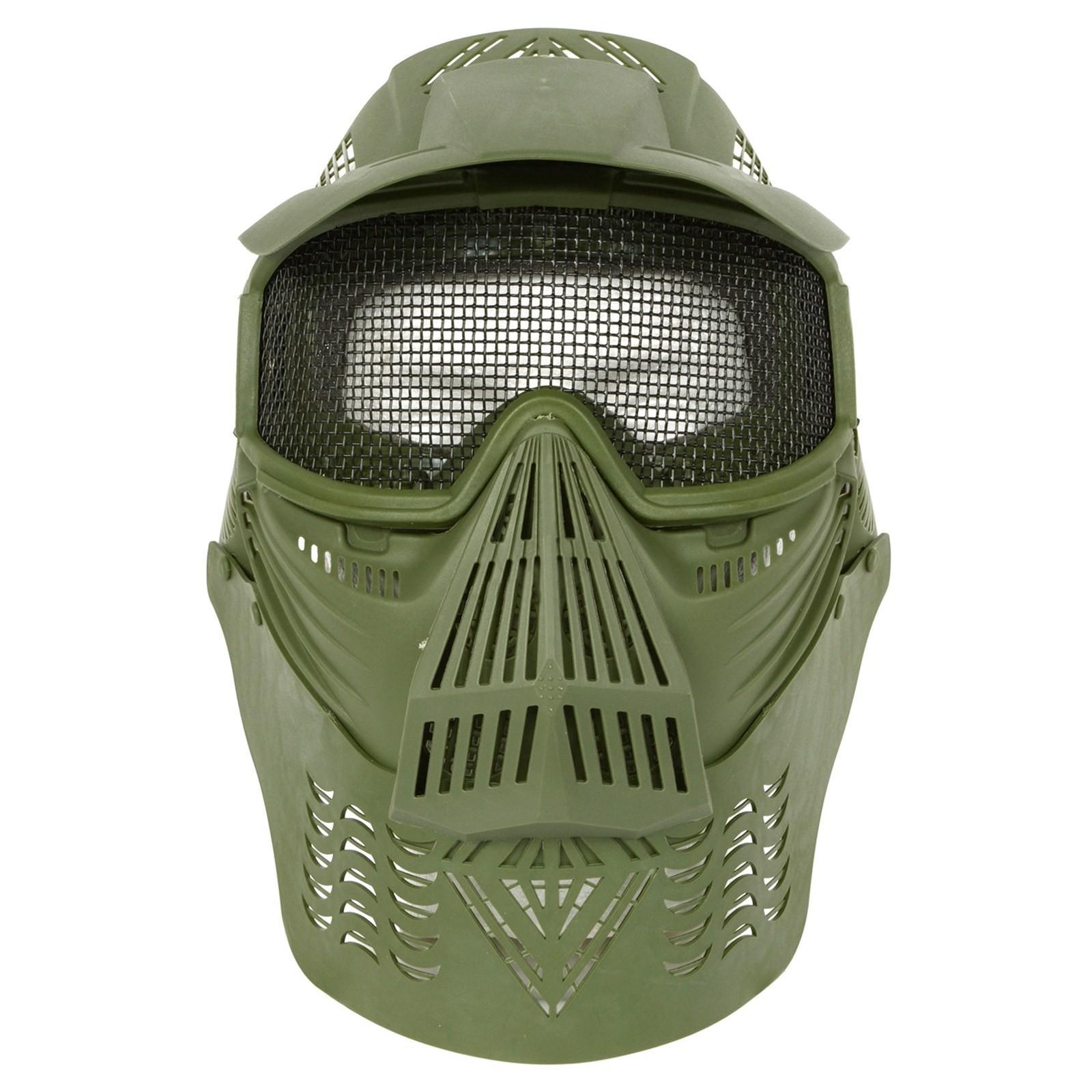 Maschera Copriviso Protettivo da Soft Air di Protezione Verde
