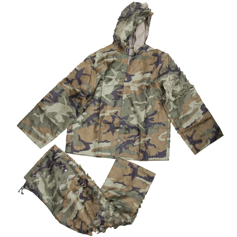 Ghillie Suit Uniforme Mimetica Softair Airsoft Woodland