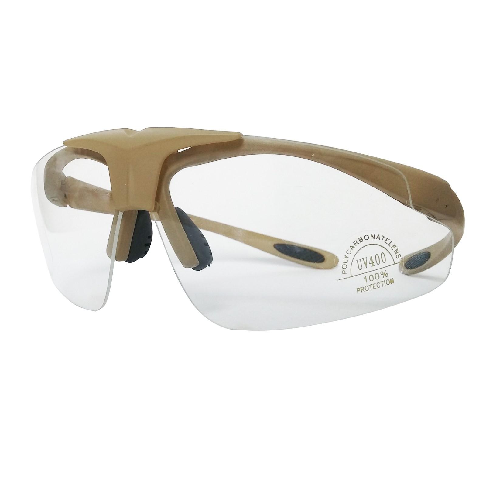 Occhiali di Protezione per Softair da Tiro Sportivi Royal Tattici TAN Militari