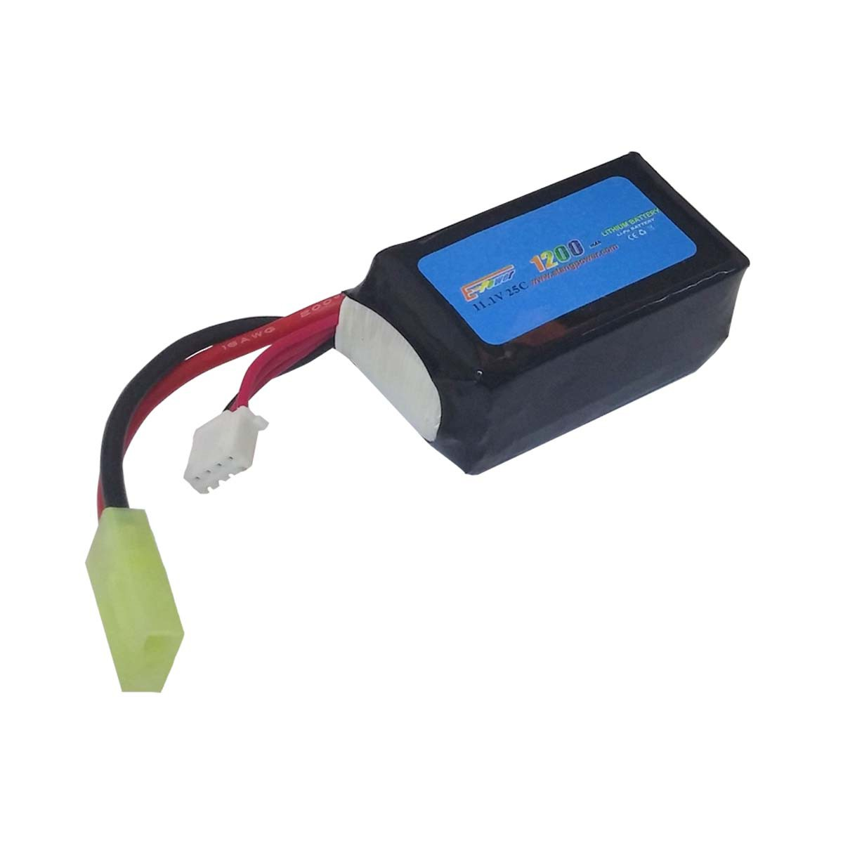 Batteria Lipo 11.1V 1200 mAh Ricaricabile 25C Softair