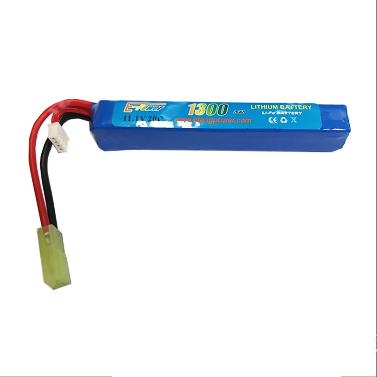 Batteria Lipo 11.1V 1300 mAh Ricaricabile 20C Softair