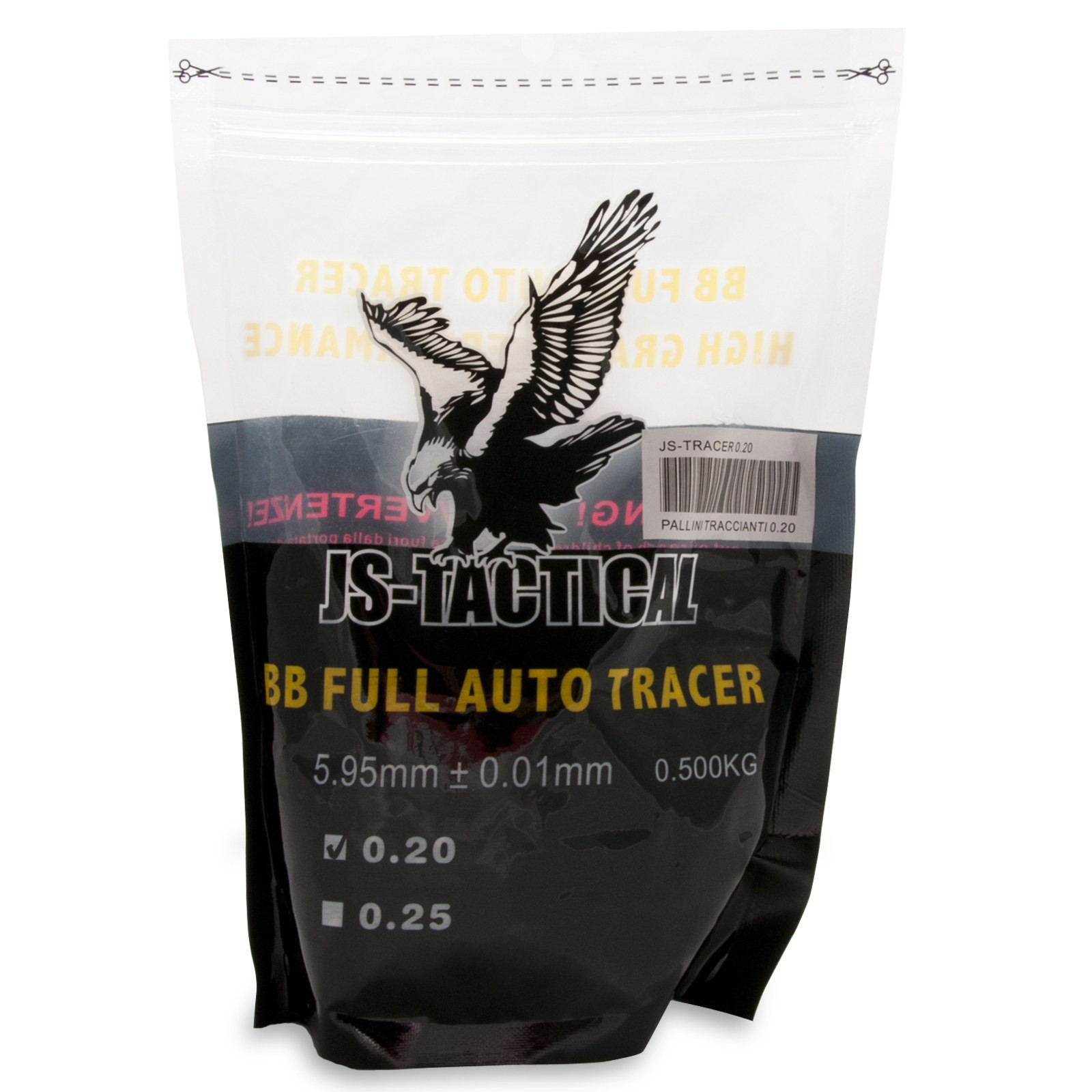 Pallini Softair 6mm Traccianti JS-Tactical - Busta 500 g