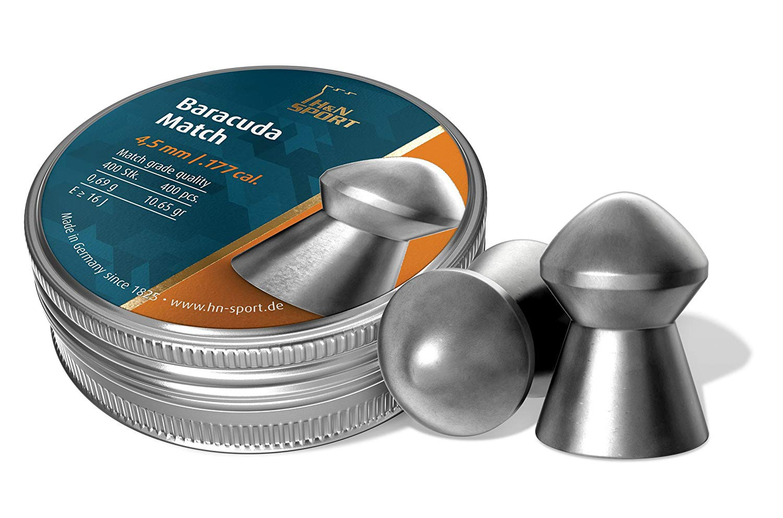 400 Pallini Piombini Baracuda Match 4,5 mm per Caccia Tiro al Bersaglio Softair