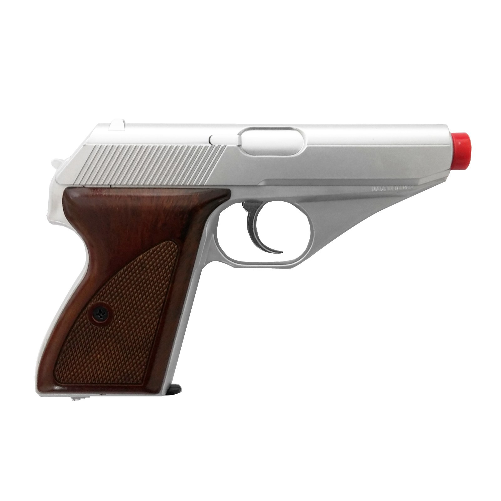 Pistola Mauser Silver a Green Gas in Abs HG 106S per Softair Walther Keymore
