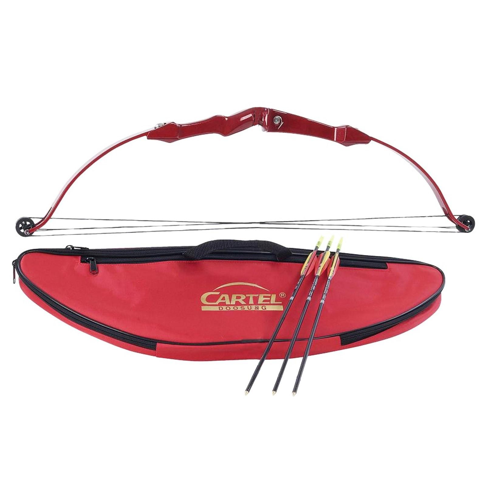 Kit Arco Mini Compound per Bambini 50 Cm Rosso Cartel Frecce Freccia 5 Libbre
