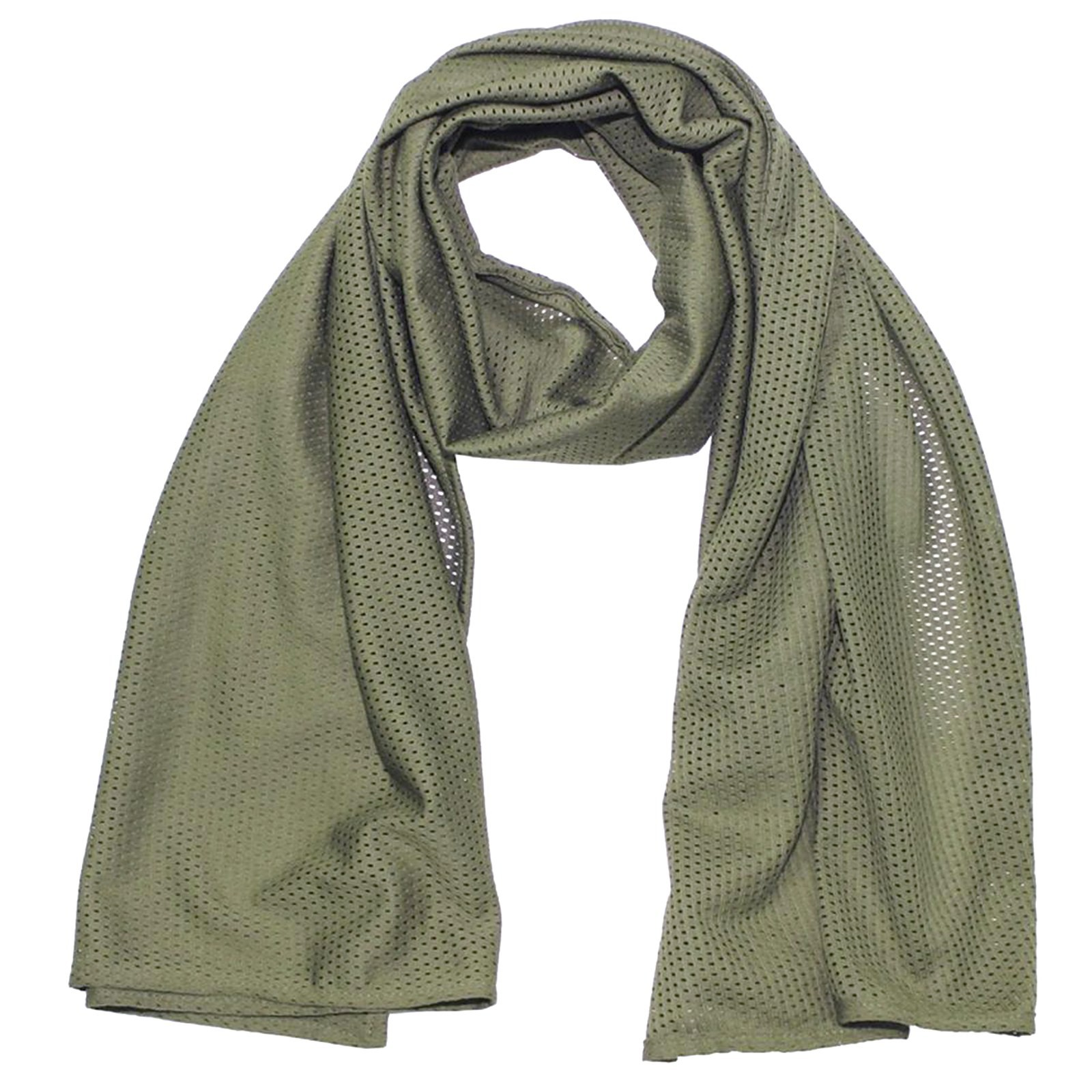 Sciarpa a rete Verde Militare Mimetica Tessuto Mimetico per Softair Uomo Cotone