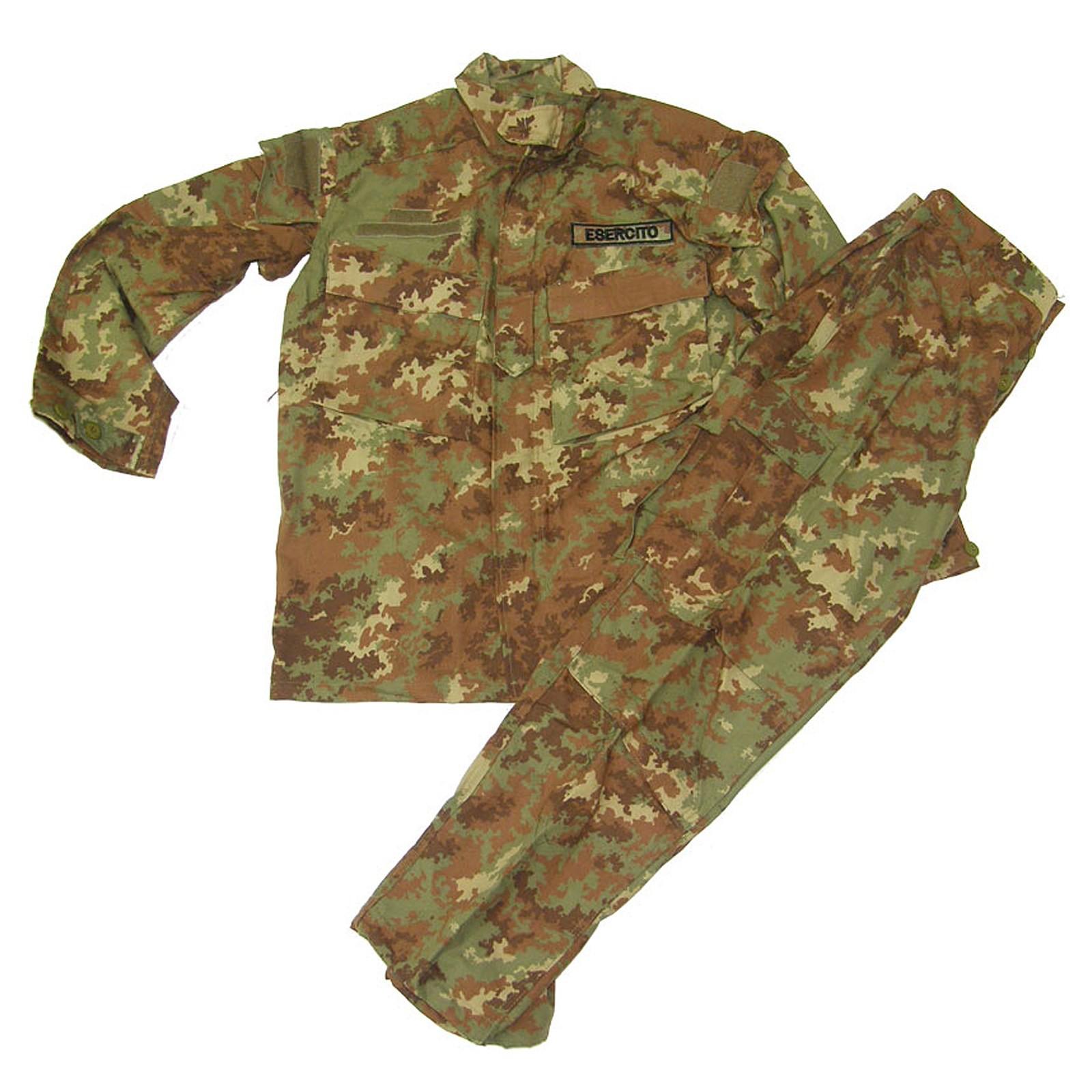 Divisa mimetica vegetata Esercito Italiano Militare Uniforme Softair Taglia XL